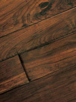 Fumoso hickory/pecan tongue and groove hardwood floor